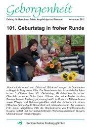 Kleider machen Leute - Seniorenheime Freiberg