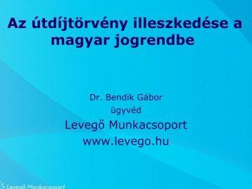 Az útdíjtörvény illeszkedése a magyar jogrendbe - Levegő ...