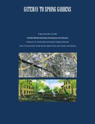 gateway to spring gardens - Master in Real Estate Development + ...