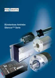 BLDC-Motorenprospekt Deutsch - Peromatic GmbH