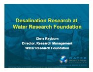 Desalination Research at Water Research Foundation