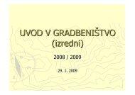 UVOD V GRADBENIÅTVO (izredni) - Student Info