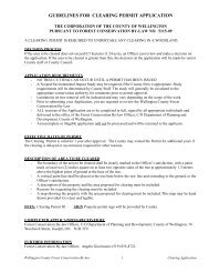 guidelines for clearing permit application - County of Wellington