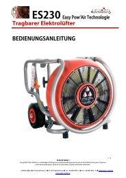Bedienungsanleitung ES230 Easy Pow'Air ... - Leader GmbH