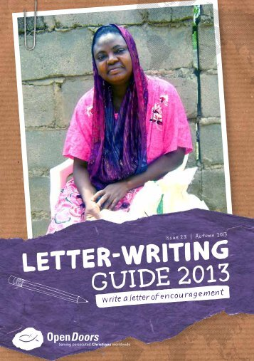 GuIDE 2013 leTTer-wrITIng - Open Doors