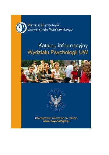 Katalog informacyjny Wydzia³u Psychologii UW 2007-2008