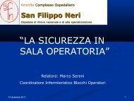 La Sicurezza in Sala Operatoria - Azienda Complesso Ospedaliero ...