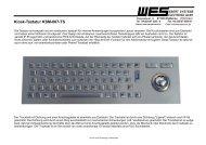Edelstahl-Tastatur mit Leucht-Trackball - WES EBERT SYSTEME ...