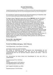 Protokoll vom 16.Dezember.2009 1. Teil - Nußloch