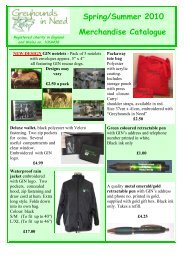 Spring Summer 2010 Merchandise Catalogue - Greyhounds in Need