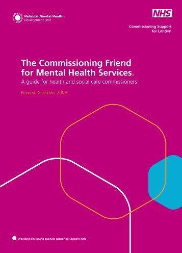 The Commissioning Friend for Mental Health Services.
