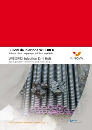 Bulloni da iniezione WIBOREX WIBOREX Injection Drill ... - Minova-ct