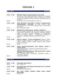 Sprievodný program - Slovenská spoločnosť prekladateľov ...
