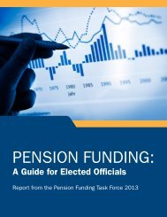 Pension Funding: A Guide for Elected Officials - National ...