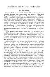 Stresemann und der Geist von Locarno