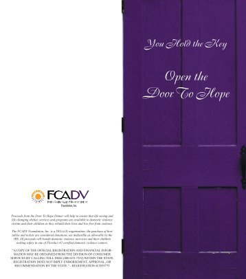 Open the Door To Hope - Florida Coalition Against Domestic Violence