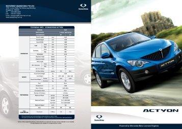 Download PDF Brochure - Motorway SsangYong