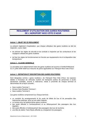 reglement_gare_routiere - Aéroport Nice Côte d'Azur