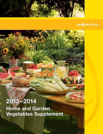 Home and Garden Vegetables Supplement