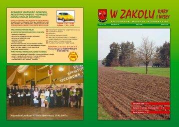 Numer 1/2007 - Gminne Centrum Kultury Czytelnictwa i Sportu w ...