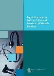 Equal Status Acts 2000 to 2004 and Provision of ... - Equality Authority