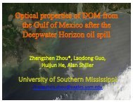 Optical properties of the DOM from the Gulf of Mexico after the ...