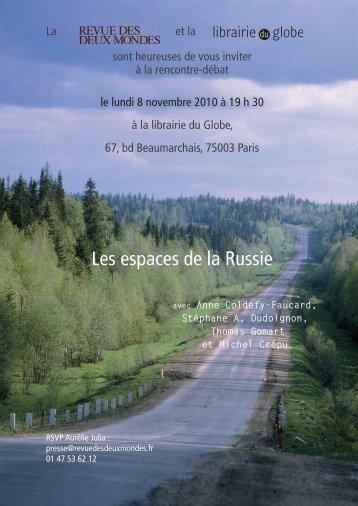 Les espaces de la Russie - Librairie du Globe