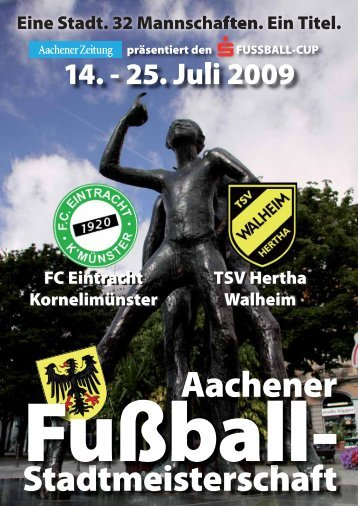 Fußball - Aachener Fußball-Stadtmeisterschaft 2009