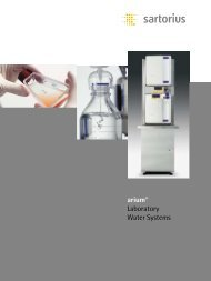 arium® Laboratory Water Systems