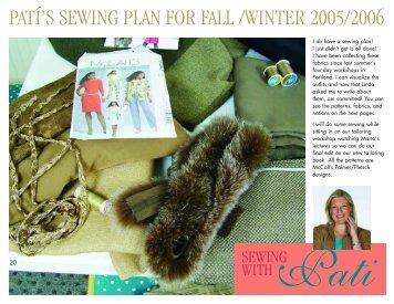 patí's sewing plan for fall /winter 2005/2006 - Palmer/Pletsch ...