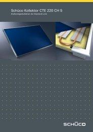 Schüco Standard-Großanlagenkollektor CTE 220 ... - Gerenda Solar