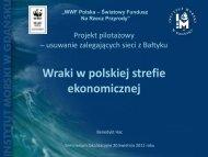 Wraki w polskiej strefie ekonomicznej - WWF