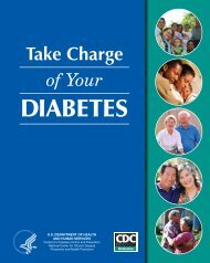 Take Charge of Your Diabetes - Centers for Disease Control and ...