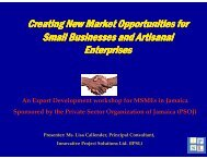 Creating New Market Opportunities for Small Businesses ... - PSOJ