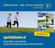 gemeinsam gewinnen - Bundessport- und Freizeitzentren Austria
