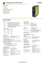 G2ZM20 Temporizzatore - Multifunzione DATI TECNICI