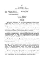T.C. SAĞLIK BAKANLIĞI Tedavi Hizmetleri Genel Müdürlüğü Sayı ...