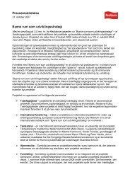 Pressemeddelelse Byens rum som udviklingsstrategi - Byens Netværk