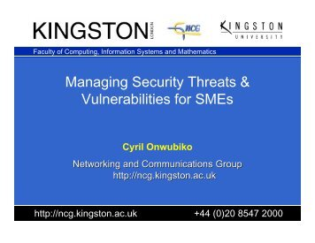 Managing Security Threats & Vulnerabilities for ... - Research Series