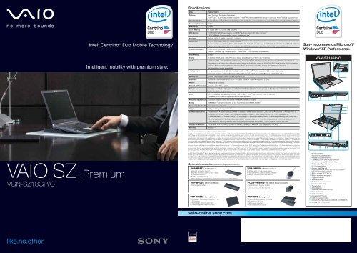 VGN-SZ18GP/C - Sony Style
