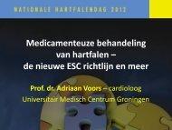de nieuwe ESC richtlijn en meer - Cardiovasculaire Geneeskunde