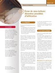 AQC - « Fiche pathologie bâtiment » C.10 Écran de sous-toiture ...