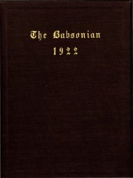 1922 Babsonian - Babson College