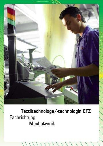Fachrichtung Mechatronik - Textilverband Schweiz