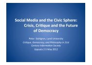 Presentation - The ICTs and Society Network