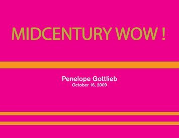 Mid Century Catalogue - Penelope Gottlieb