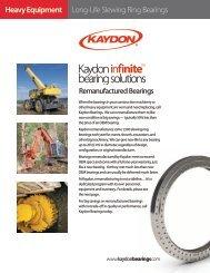 Long-Life Slewing Ring Bearings Heavy ... - Kaydon Bearings
