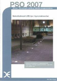 Solcelledrevet LED-lys i byrumsinventar - Faktor 3