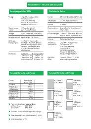 Anzeigenpreisliste 2004 Technische Daten Anzeigenformate und ...