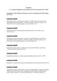 Usnesení z 14. zasedání 2009 - Libčice nad Vltavou